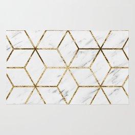 Gatsby golden marble Rug