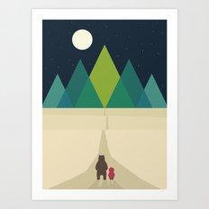 Long Journey Art Print