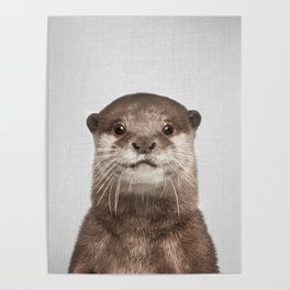 Otter - Colorful Poster