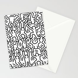 Homage to Keith Haring Acrobats Stationery Cards