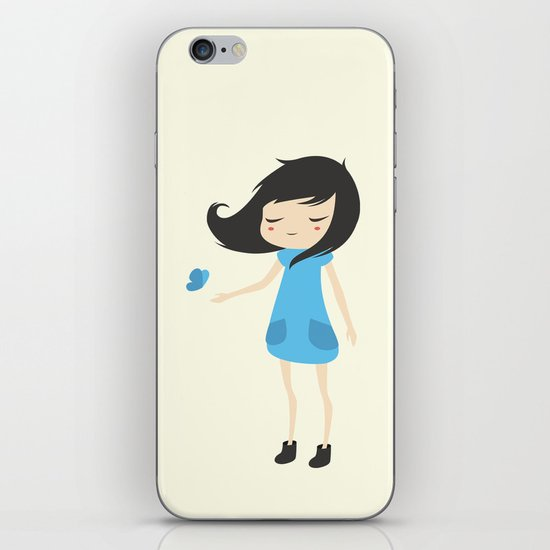 Girl and a Butterfly 2 iPhone & iPod Skin