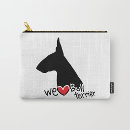 We love Bull terrier Carry-All Pouch
