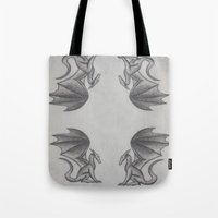 dragons Tote Bags featuring Dragons by Dan Minnis