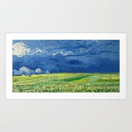 Wheatfield Under Thunderclouds by Vincent van Gogh (1890) Art Print