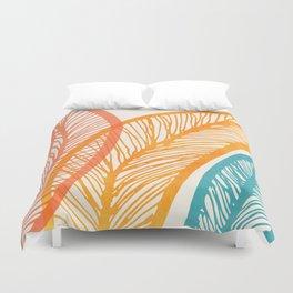 Tropical Flora - Retro Palette Duvet Cover