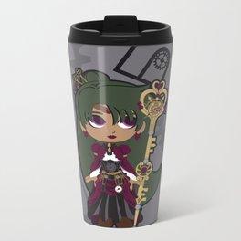 Steampunk Sailor Pluto - Sailor Moon Metal Travel Mug