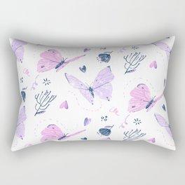 The Butterfly Effect - Pink Rectangular Pillow