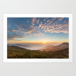 Sunset from the Appennines Art Print