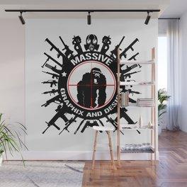 Massive GPX Gorilla Gun Logo Wall Mural