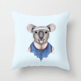 K is for a Kewl Koala   Watercolor Koala Throw Pillow
