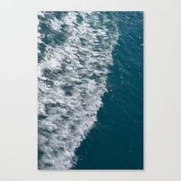 Sea wave with white foam Canvas Print