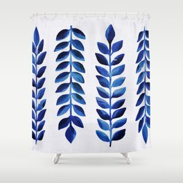 Tropical Indigo Shower Curtain