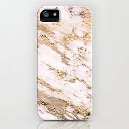 Golden smudge - blush marble iPhone Case