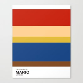 The Colors of Mario Canvas Print