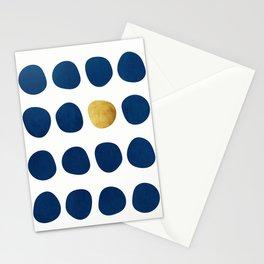 Indigo Pebbles & gold Stationery Cards