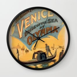 Vintage theatrical poster for Imre Kiralfy's production of Venice Bride of the Sea at Olympia Wall Clock