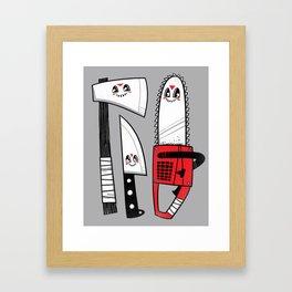 Happy Slasher Pals Framed Art Print