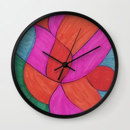 Abstract Lily Wall Clock