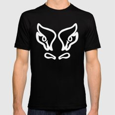 Bull's Eyes - Digital Work Black Mens Fitted Tee MEDIUM