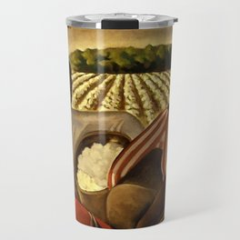 African American Masterpiece 'Employment of Negroes in Agriculture' by Earle Wilton Richardson Travel Mug