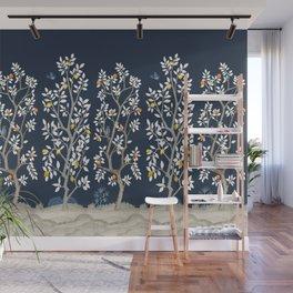 Citrus Grove Chinoiserie Mural - Navy Wall Mural