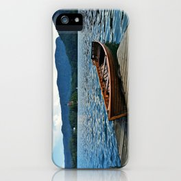 Wooden Boat on Lake Bled iPhone Case