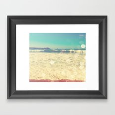Summertime at the Beach Framed Art Print