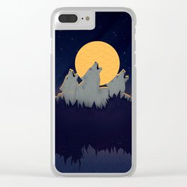Midnight Sound Clear iPhone Case