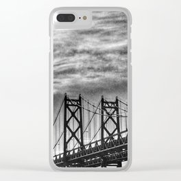 Iowa-Illinois Memorial Bridge - Close Up Clear iPhone Case