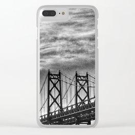 Iowa-Illinois Memorial Bridge - Close Up Clear iPhone Case