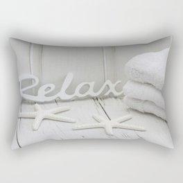 Relax Seaside Bathroom Spa Rectangular Pillow