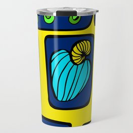 Blue & Yellow Cashew Apple Travel Mug