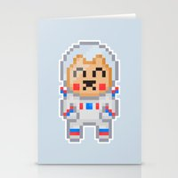 8bit Stationery Cards featuring 8Bit Astrobear by Bear Picnic