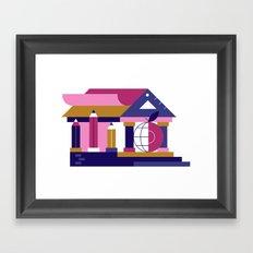 School Framed Art Print