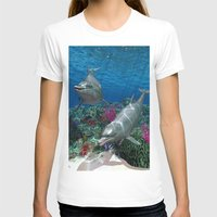 dolphins T-shirts featuring Dolphins by Simone Gatterwe