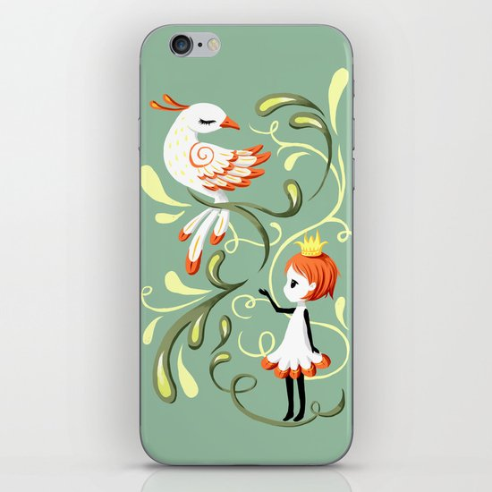 Princess and a Bird iPhone & iPod Skin