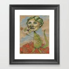 AUTUMN CROC Framed Art Print