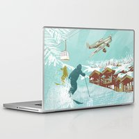 ski Laptop & iPad Skins featuring ski lift by michael cheung