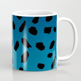 Ombre Blue Hawaii Gradient Duotone Black Spots Coffee Mug