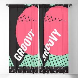 Groovy Geometry Blackout Curtain