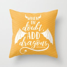 Add Dragons Throw Pillow