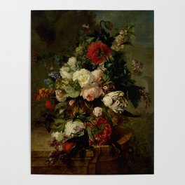 """Harmanus Uppink """"Still Life with Flowers"""" Poster"""
