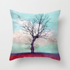 ATMOSPHERIC TREE | Longing for spring Throw Pillow