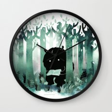 A Quiet Spot (in green) Wall Clock