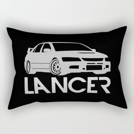 Mitsubishi Lancer Evo - silver - Rectangular Pillow