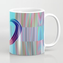 Fractal Art- Pattern Art- Heart Art- Blue Hearts-Pixxie Stixx- LGBT Art- Love- Healing Energy Art Coffee Mug