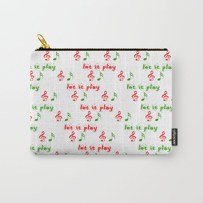 Play Christmas Music.Let It Play Christmas Music Christmas Series Carry All Pouch By Liliana4art