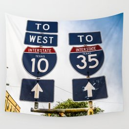 Signs in Texas Wall Tapestry