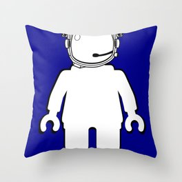 BANKSY STYLE ASTRONAUT MINIFIG by Chillee Wilson Throw Pillow
