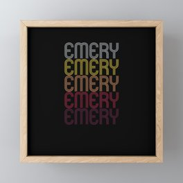 Emery Name Gift Personalized First Name Framed Mini Art Print